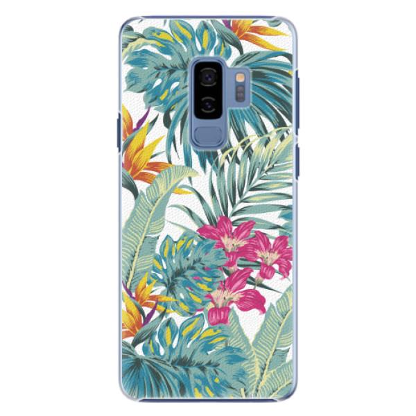Plastové pouzdro iSaprio - Tropical White 03 - Samsung Galaxy S9 Plus