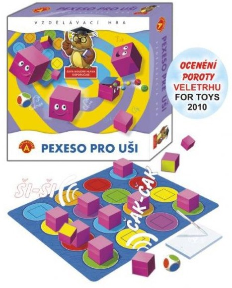 ALEXANDER Hra PEXESO PRO UŠI v krabici
