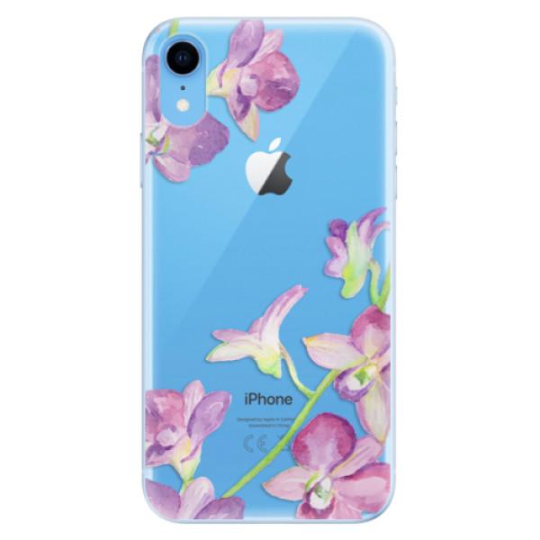 Odolné silikonové pouzdro iSaprio - Purple Orchid - iPhone XR