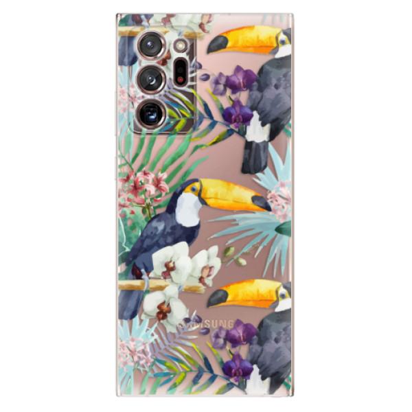 Odolné silikonové pouzdro iSaprio - Tucan Pattern 01 - Samsung Galaxy Note 20 Ultra