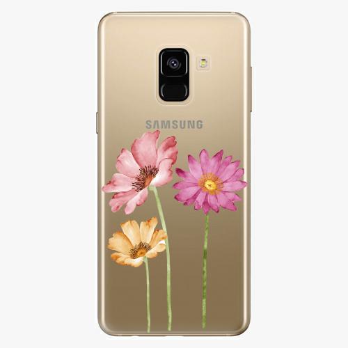 Plastový kryt iSaprio - Three Flowers - Samsung Galaxy A8 2018