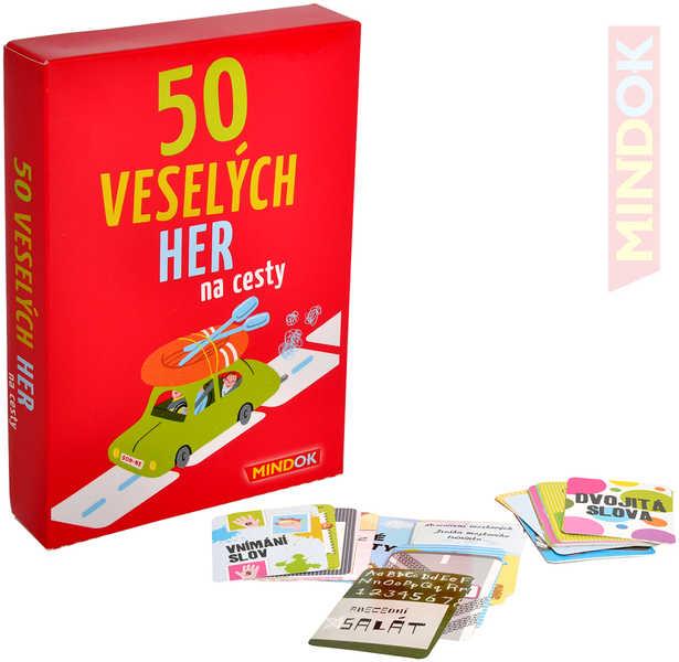 MINDOK HRA 50 Veselých her na cesty *SPOLEČENSKÉ HRY*