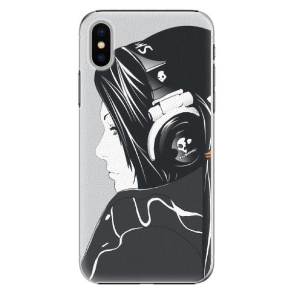 Plastové pouzdro iSaprio - Headphones - iPhone X