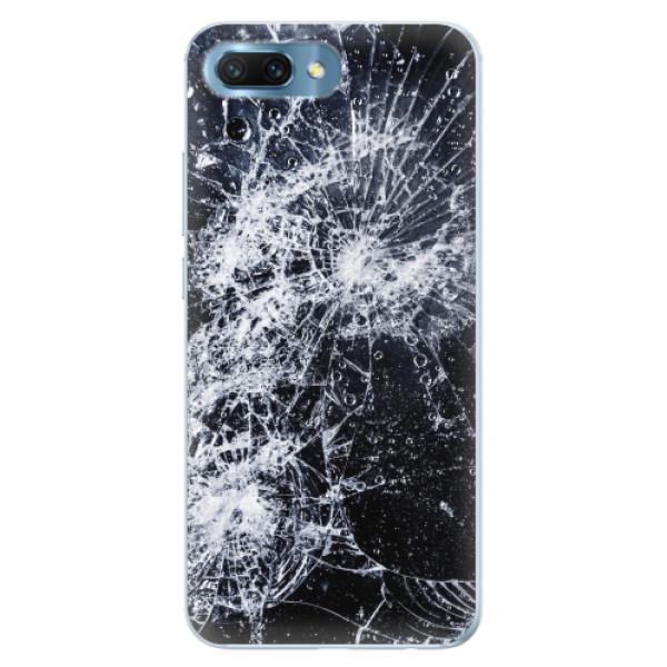 Silikonové pouzdro iSaprio - Cracked - Huawei Honor 10