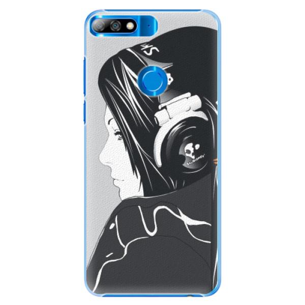 Plastové pouzdro iSaprio - Headphones - Huawei Y7 Prime 2018