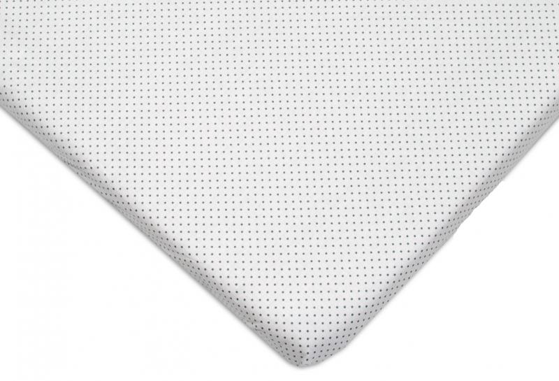 Mamo Tato Bavlněné prostěradlo 60x120cm - Jemné tečky šedé - 120x60