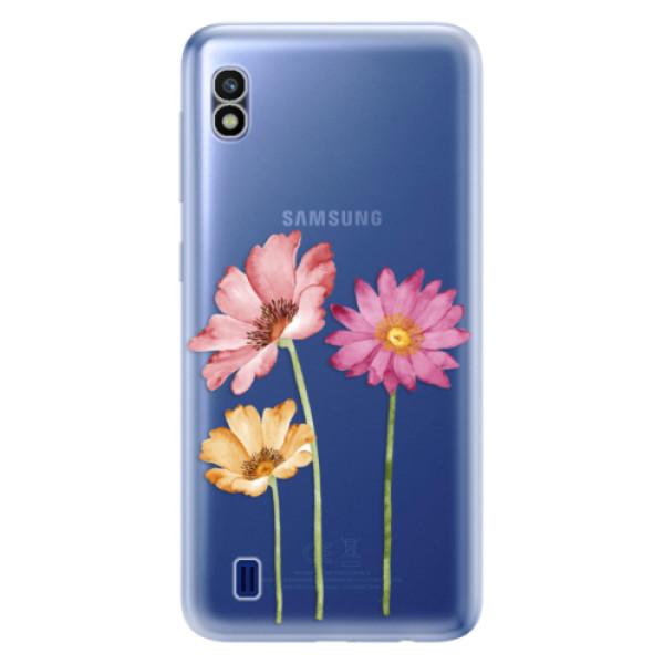 Odolné silikonové pouzdro iSaprio - Three Flowers - Samsung Galaxy A10