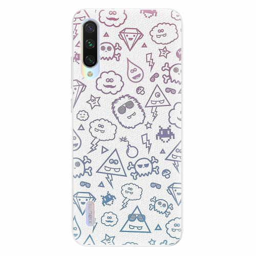 Silikonové pouzdro iSaprio - Funny Clouds - Xiaomi Mi A3