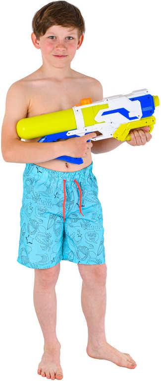 Pistole dětská vodní 48cm se zásobníkem na vodu 3 barvy plast