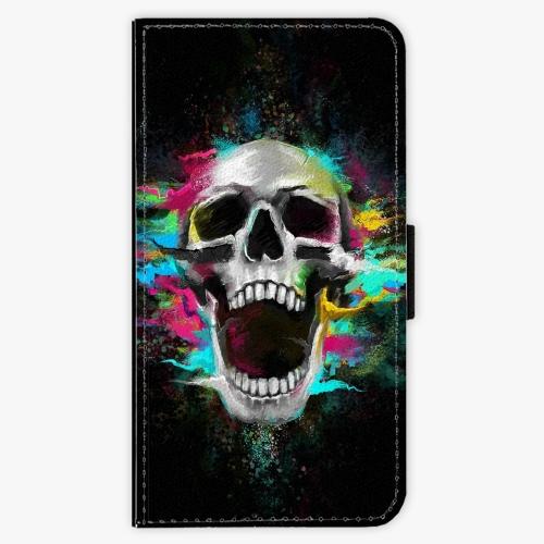 Flipové pouzdro iSaprio - Skull in Colors - Lenovo Moto G4 / G4 Plus