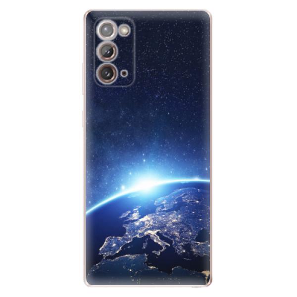 Odolné silikonové pouzdro iSaprio - Earth at Night - Samsung Galaxy Note 20