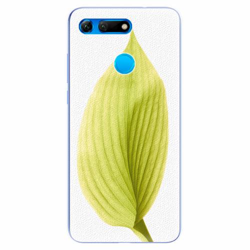 Silikonové pouzdro iSaprio - Green Leaf - Huawei Honor View 20