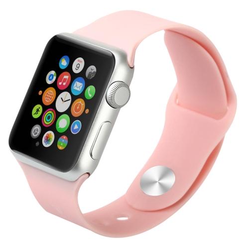 Gumový pásek / řemínek Baseus Fresh pro Apple Watch 38mm růžový