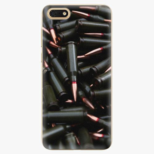 Silikonové pouzdro iSaprio - Black Bullet - Huawei Honor 7S