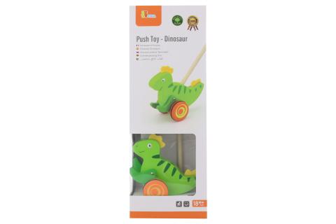 Dřevěná tahačka - dinosaurus