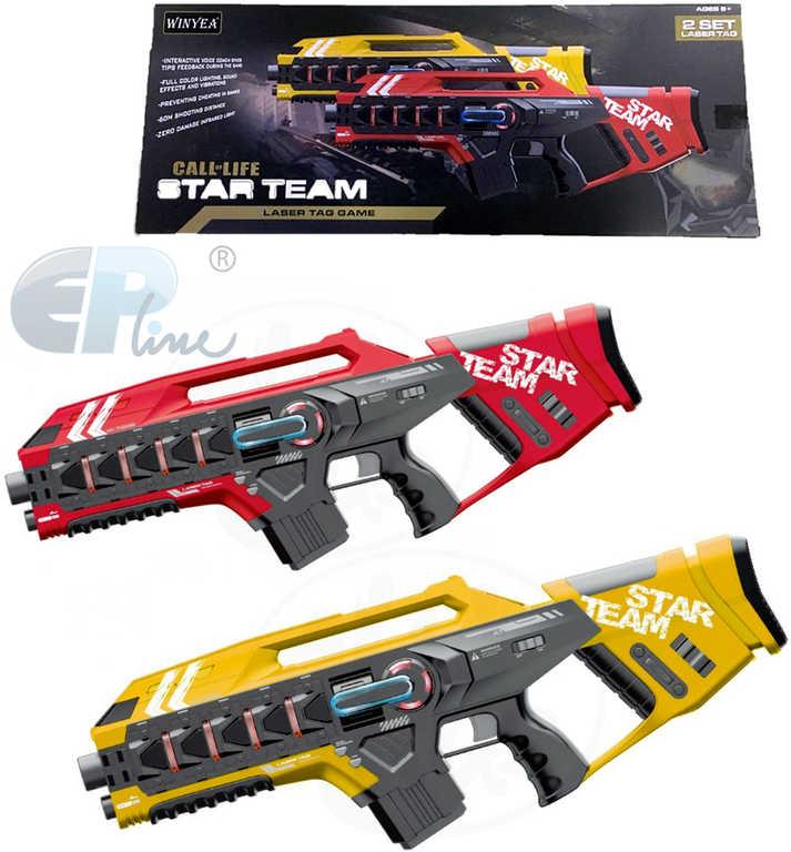 EP Line Sada Laser Game 2 velké zbraně na baterie v krabici