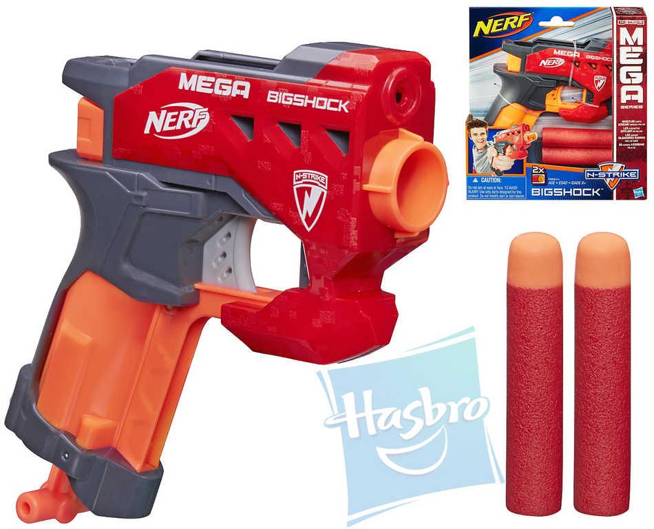 HASBRO NERF MEGA Pistole nejmenší set se 2 šipkami plast