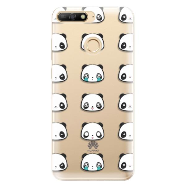 Odolné silikonové pouzdro iSaprio - Panda pattern 01 - Huawei Y6 Prime 2018