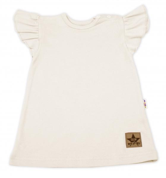 Baby Nellys Bavlněné šaty Nikolka s volánkem, krátký rukáv