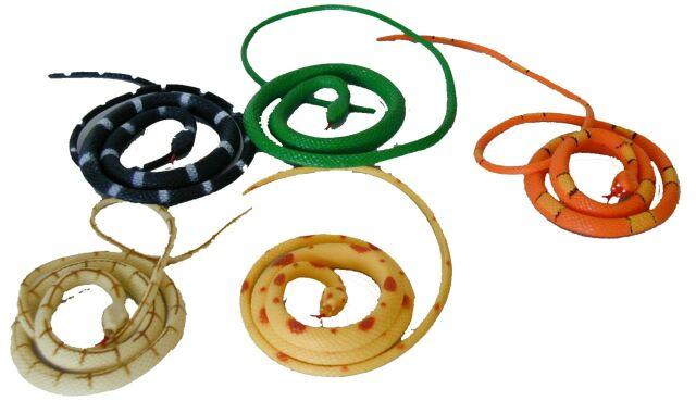 Dětský had gumový 106cm 5 druhů