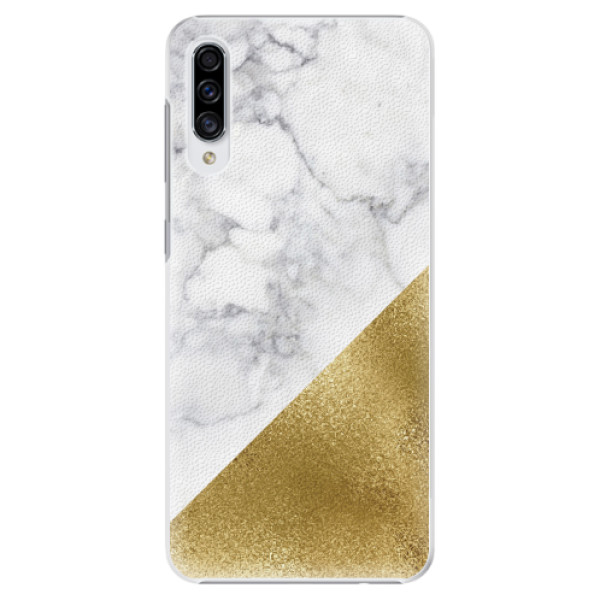 Plastové pouzdro iSaprio - Gold and WH Marble - Samsung Galaxy A30s