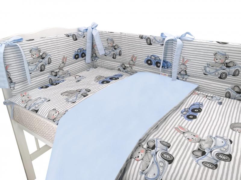 baby-nellys-3-dilna-sada-mantinel-s-povlecenim-baby-car-modra-135-x-100-cm-135x100