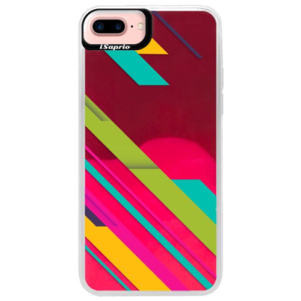 Neonové pouzdro Pink iSaprio - Color Stripes 03 - iPhone 7 Plus