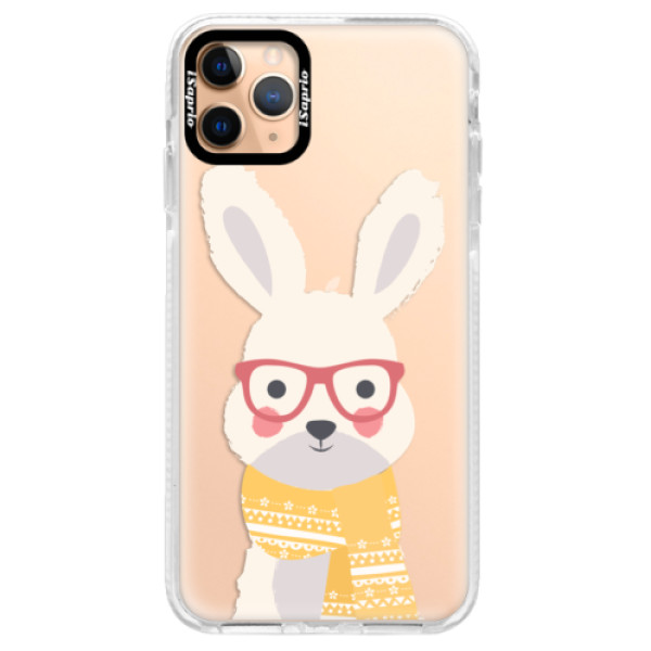 Silikonové pouzdro Bumper iSaprio - Smart Rabbit - iPhone 11 Pro Max
