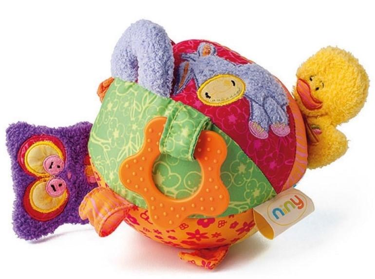 Niny Závěsná plyšová hračka s kousátkem - Míček