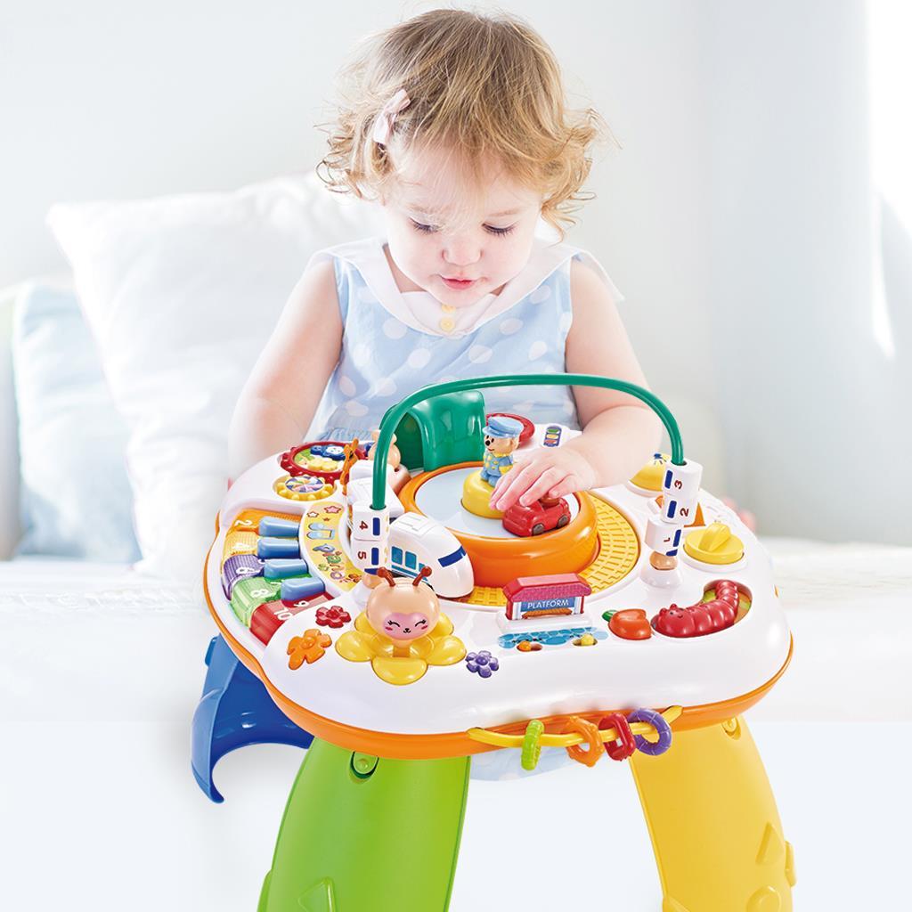 Mluvící a hrající interaktivní stoleček New Baby s jezdícím vláčkem CZ/SK - dle obrázku