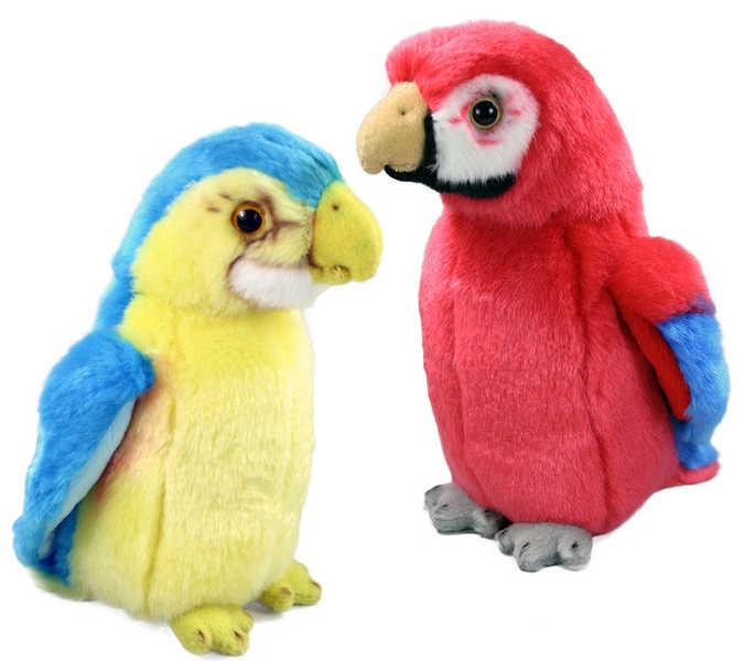 PLYŠ Papoušek 19 cm 2 druhy *PLYŠOVÉ HRAČKY*