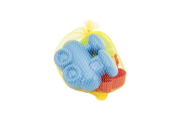 Formičky Bábovky na písek 4 ks plast 10 cm v síťce 24 m+