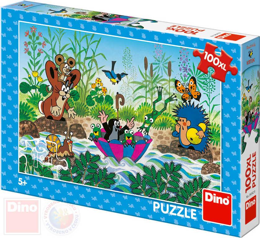 DINO Puzzle Krtkova plavba Krtek (Krteček) 47x33cm skládačka 100 dílků XL