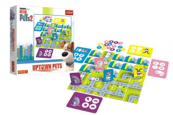 Tajný život mazlíčků 2 Uptown Pets společenská stolní hra v krabici 24x24x5cm 4+