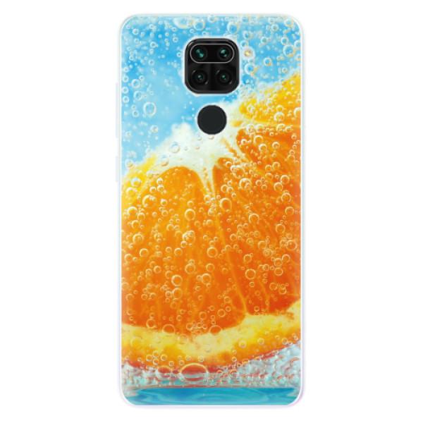 Odolné silikonové pouzdro iSaprio - Orange Water - Xiaomi Redmi Note 9