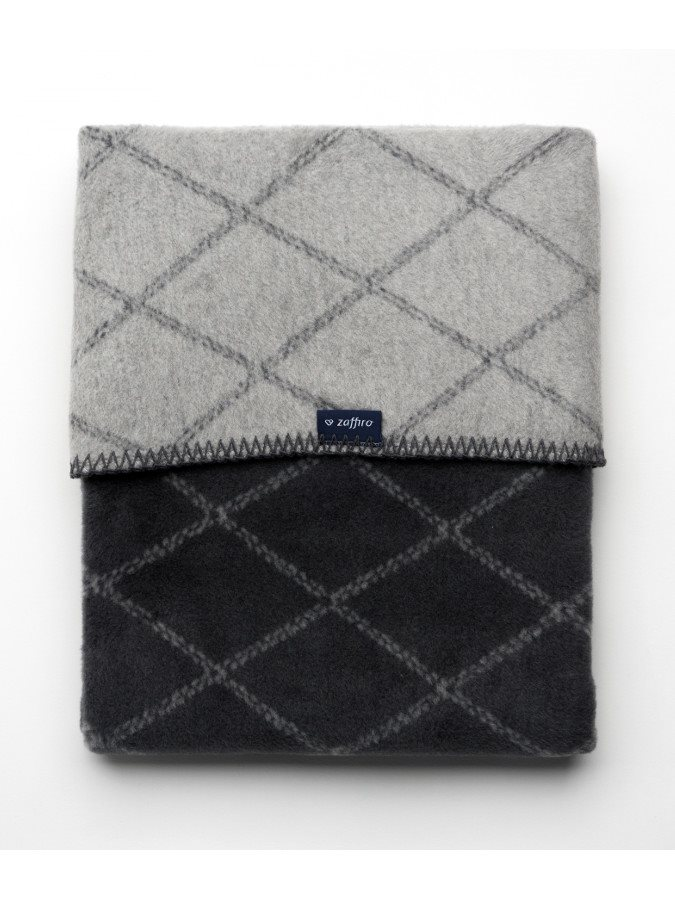 Dětská bavlněná deka se vzorem Womar 75x100 grafitovo- šedá