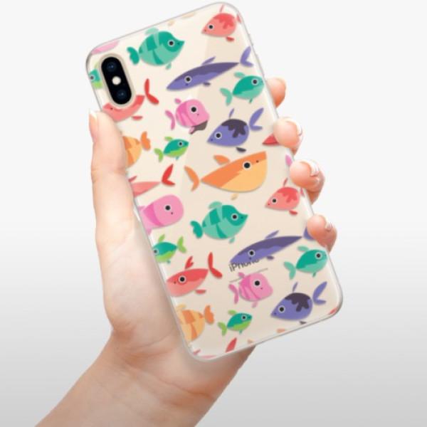 Silikonové pouzdro iSaprio - Fish pattern 01 - iPhone XS Max