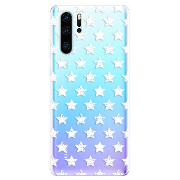 Odolné silikonové pouzdro iSaprio - Stars Pattern - white - Huawei P30 Pro