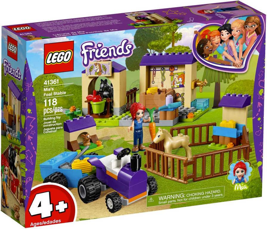 LEGO FRIENDS Mia a stáj pro hříbata 41361