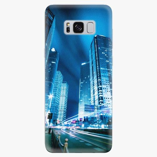 Plastový kryt iSaprio - Night City Blue - Samsung Galaxy S8 Plus