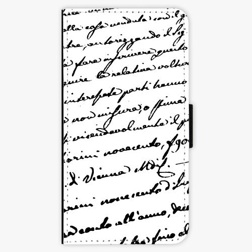 Flipové pouzdro iSaprio - Handwriting 01 - black - iPhone X
