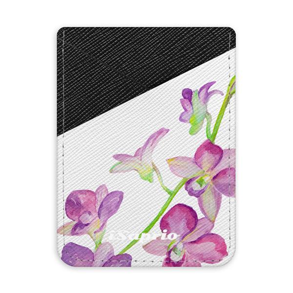 Pouzdro na kreditní karty iSaprio - Purple Orchid - tmavá nalepovací kapsa