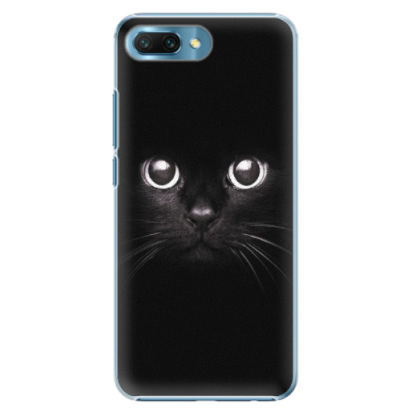 Plastové pouzdro iSaprio - Black Cat - Huawei Honor 10