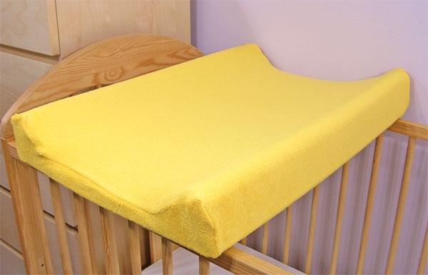 Jersey potah na přebalovací podložku žlutý