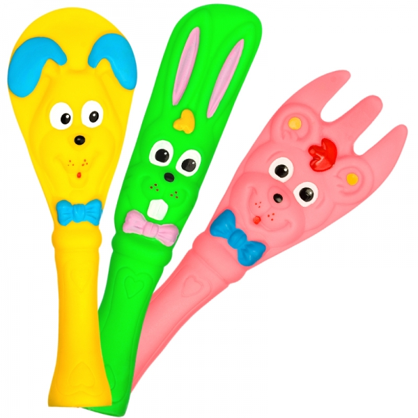 Veselé gumové hračky - příbor