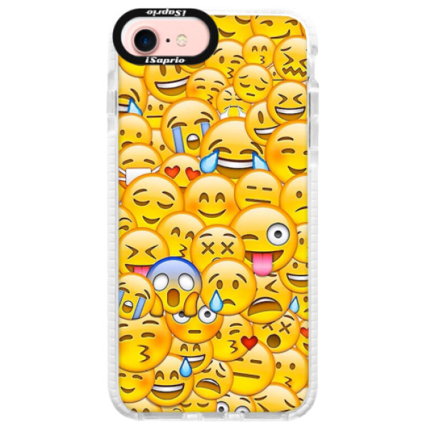 Silikonové pouzdro Bumper iSaprio - Emoji - iPhone 7