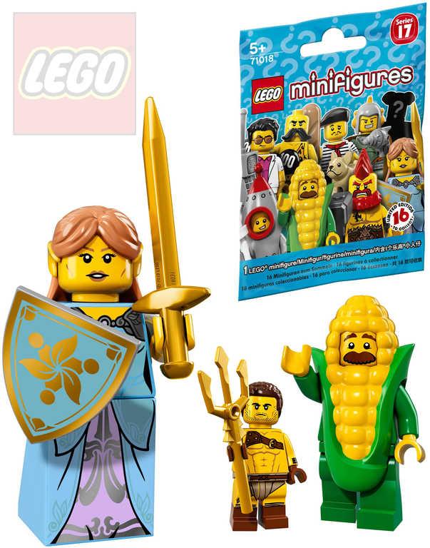 LEGO Minifigurka plastová set s doplňky v sáčku 17.serie 16 druhů