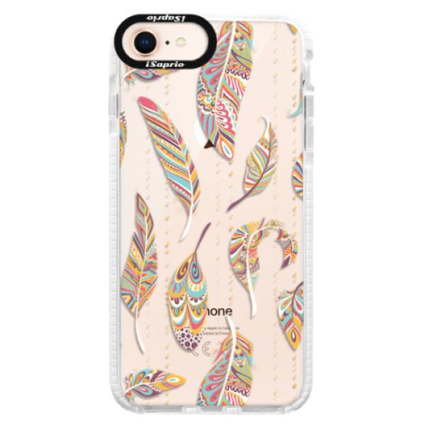 Silikonové pouzdro Bumper iSaprio - Feather pattern 02 - iPhone 8