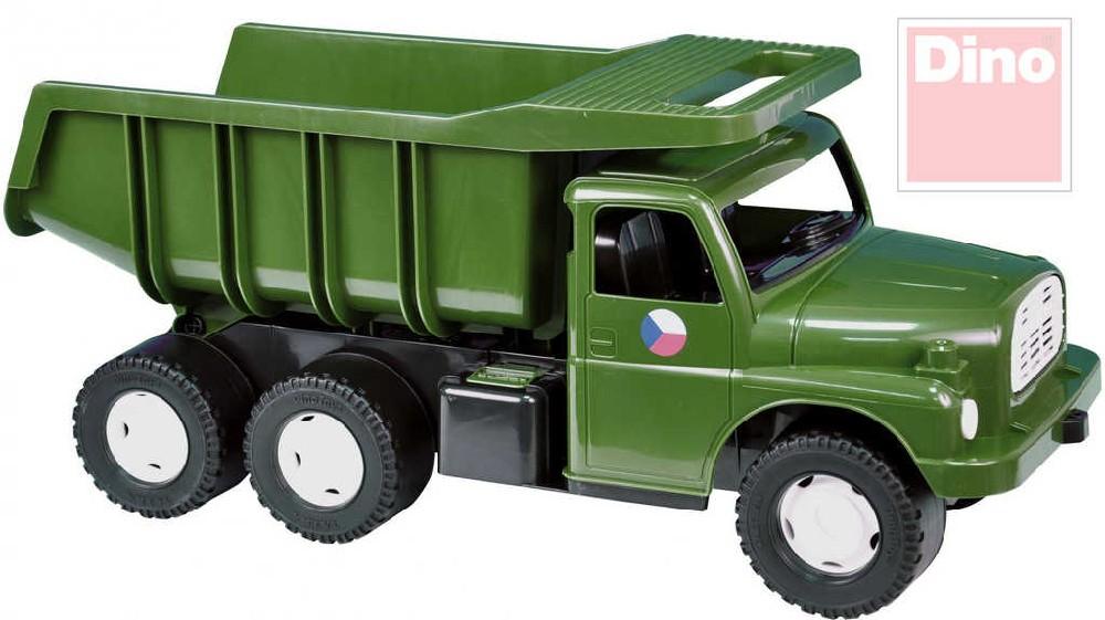 Tatra auto nákladní T148 khaki vojenské SKLÁPĚCÍ KORBA na písek