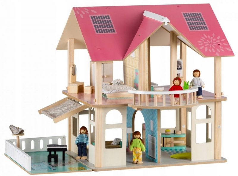 eco-toys-dreveny-domek-pro-panenky-s-balkonem-rezidence-modern